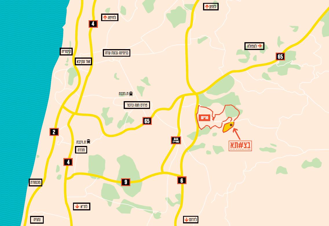 שכונת בצוותא - מפת אזור